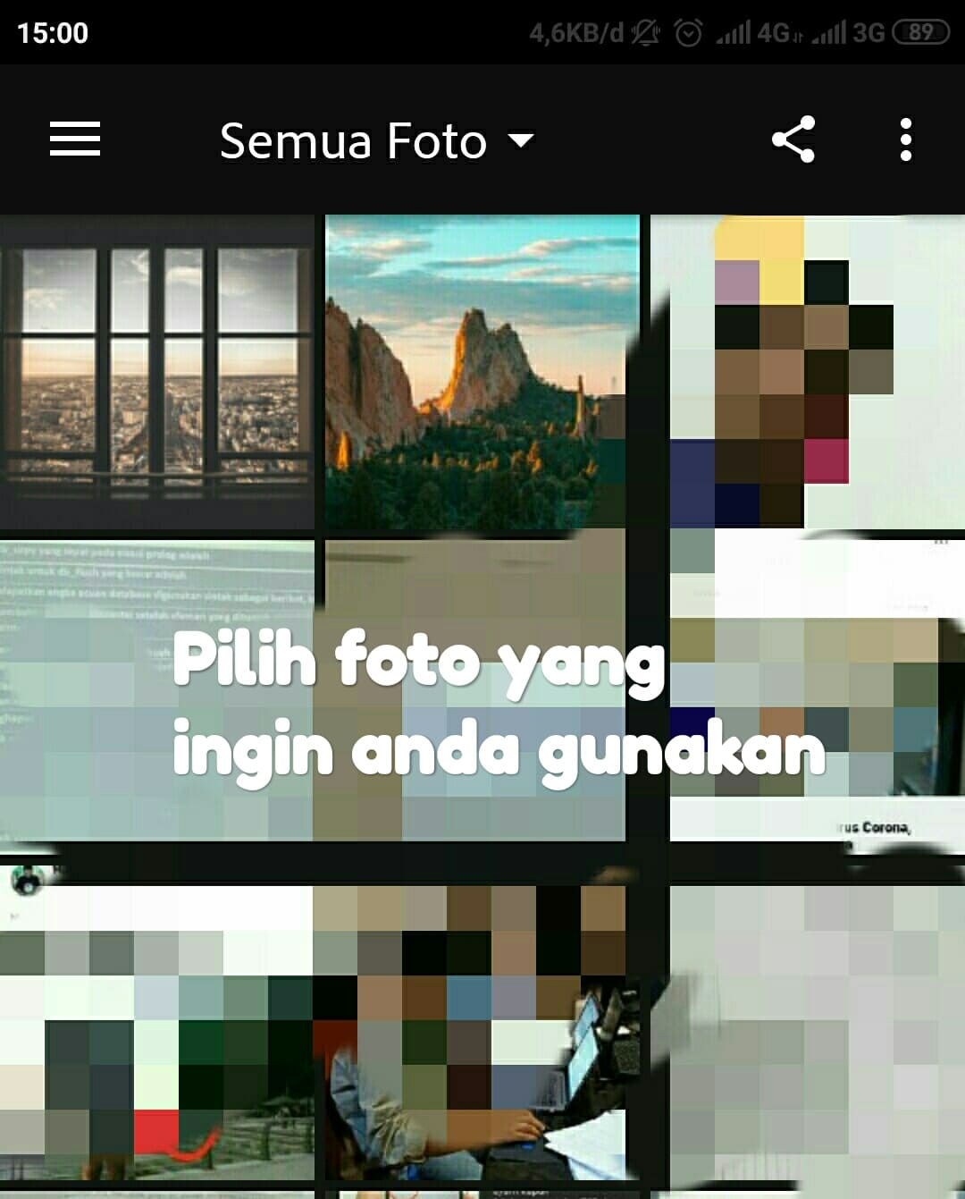 Cara edit foto efek hujan di Photoshop express android
